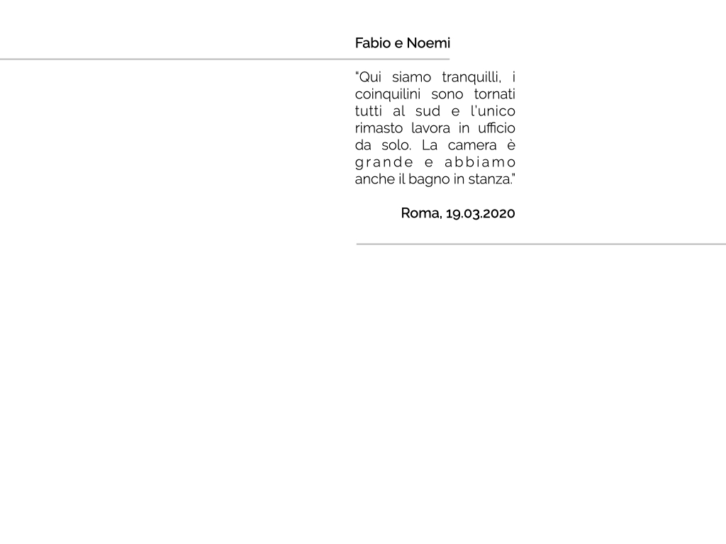 """""""QUARANTINE PORTRAITS"""" è il progetto fotografico di Carlotta Stracchi Villa che vuole ritrarre le famiglie italiane nel nostro Paese e all'estero durante questi giorni di #quarantena, attraverso lo schermo di un computer e in collegamento via Skype. Al centro del progetto il racconto dei nuclei familiari che si sono venuti a creare: foto, nomi, luoghi e qualche riga, per non dimenticare le unioni che tutti noi stiamo vivendo in questo momento storico unico e particolare, all'interno delle nostre case."""